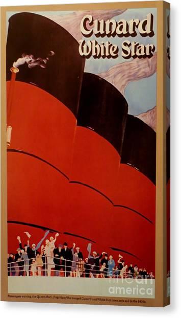 Cunard-white Star Ocean Liner Poster Canvas Print
