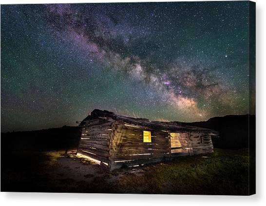 Cunningham Cabin After Dark Canvas Print