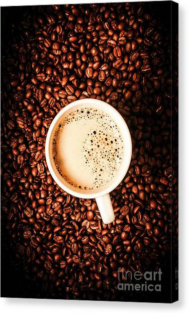 Coffee Canvas Print - Cup And The Coffee Store by Jorgo Photography - Wall Art Gallery