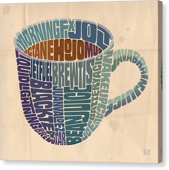 Coffee Beans Canvas Print - Cup O' Joe by Mitch Frey