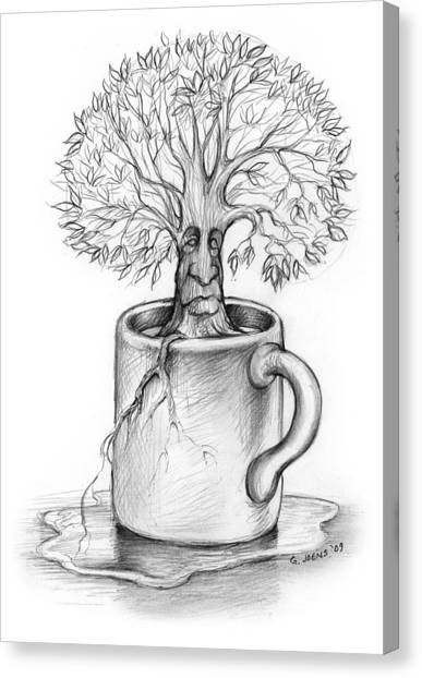 Tree Canvas Print - Cup-o-tree by Greg Joens