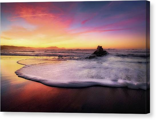 Cup Of Foam Canvas Print