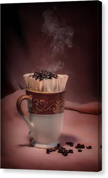 Roast Canvas Print - Cup Of Hot Coffee by Tom Mc Nemar