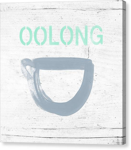 Tea Canvas Print - Cup Of Oolong Tea- Art By Linda Woods by Linda Woods