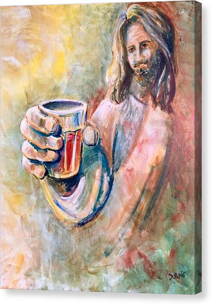 Cup Of Salvation Canvas Print