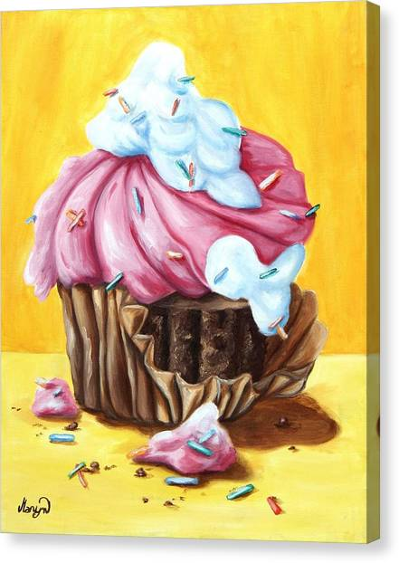 Cakes Canvas Print - Cupcake by Maryn Crawford