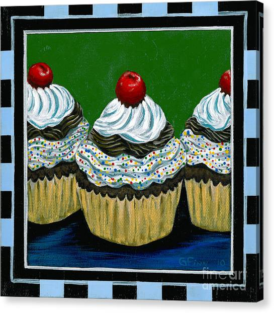 Cupcakes With A Cherry On Top Canvas Print
