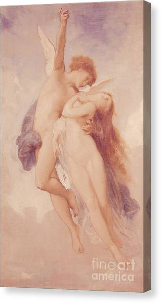 Cupid Canvas Print - Cupid And Psyche by William Adolphe Bouguereau