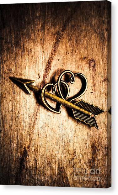 Cupid Canvas Print - Cupid Arrow And Hearts by Jorgo Photography - Wall Art Gallery