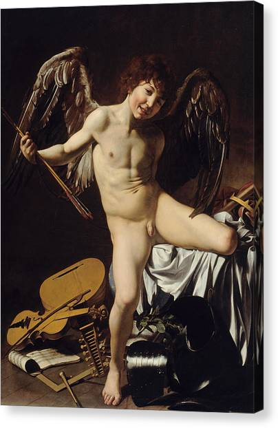 Cupid Canvas Print - Cupid As Victor  by Caravaggio