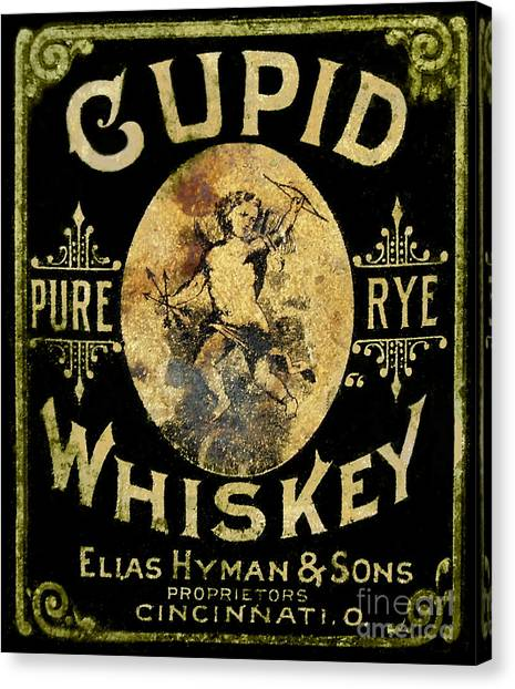 Cupid Canvas Print - Cupid Whiskey by Jon Neidert