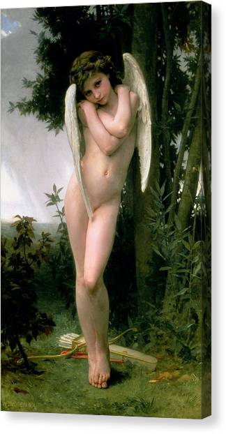 Cupid Canvas Print - Cupidon by William Adolphe Bouguereau