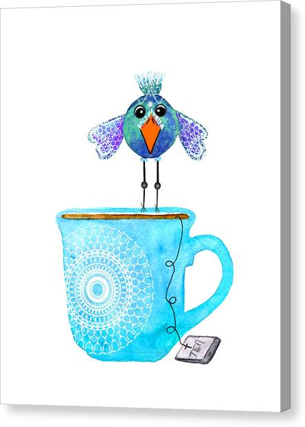 Tea Canvas Print - Cuppa Series - Tea Taster by Moon Stumpp