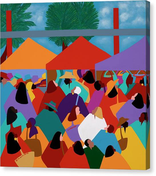 Canvas Print - Curacao Market by Synthia SAINT JAMES