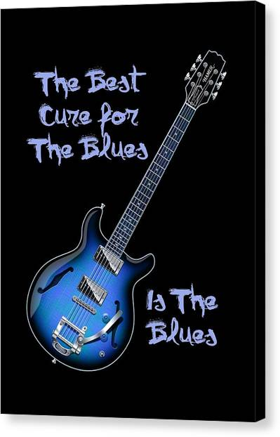 Cure For The Blues Shirt Canvas Print
