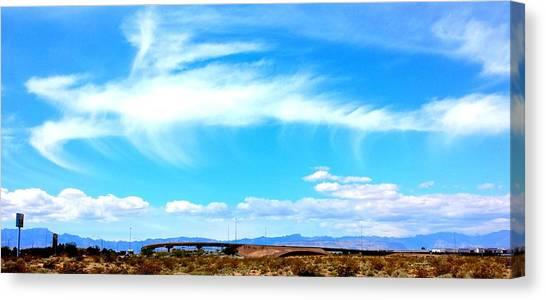 Dragon Cloud Over Suburbia Canvas Print