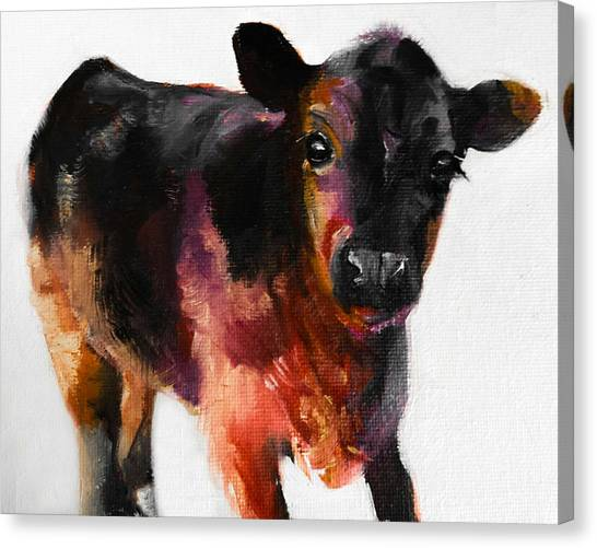 Buster The Calf Painting Canvas Print
