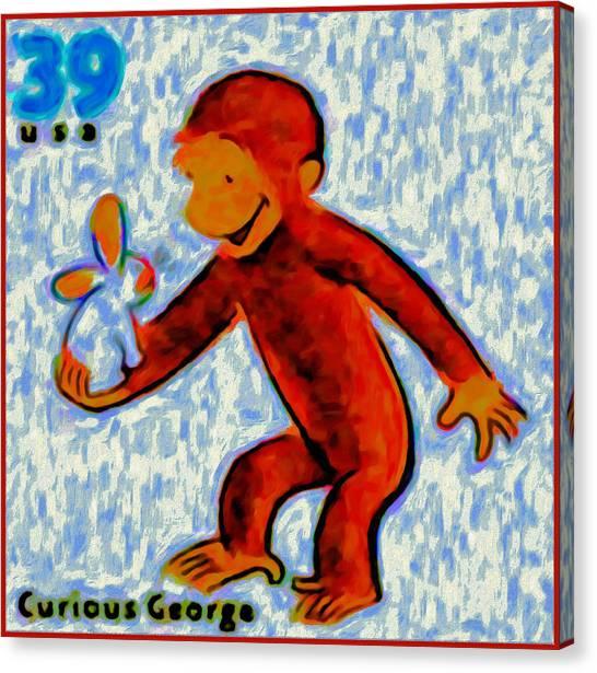 Curious George Canvas Print
