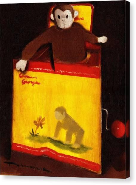 Curious George Still Life Jack In The Box  Art Print Canvas Print