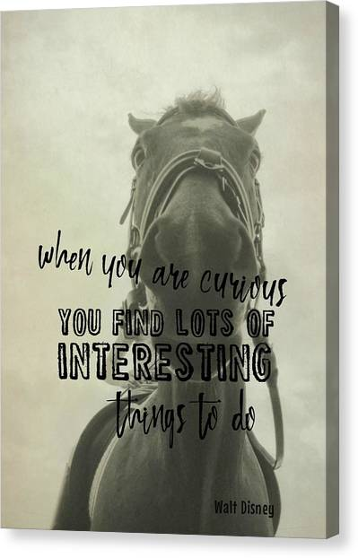 Curious Kirby Quote Canvas Print by JAMART Photography
