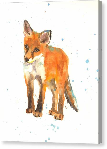 Foxes Canvas Print - Curious Kit by Alison Fennell