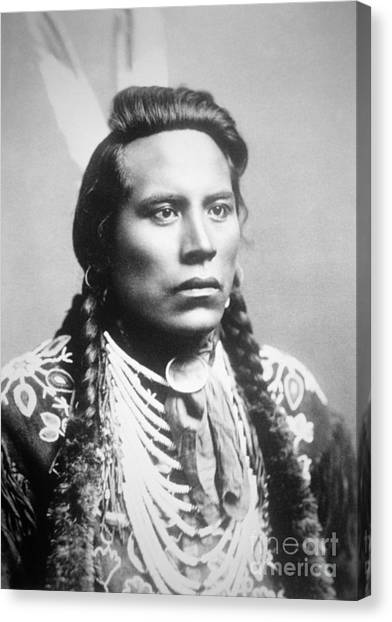Scouting Canvas Print - Curley, Of The Crow Tribe, One Of Custer's Scouts by American School