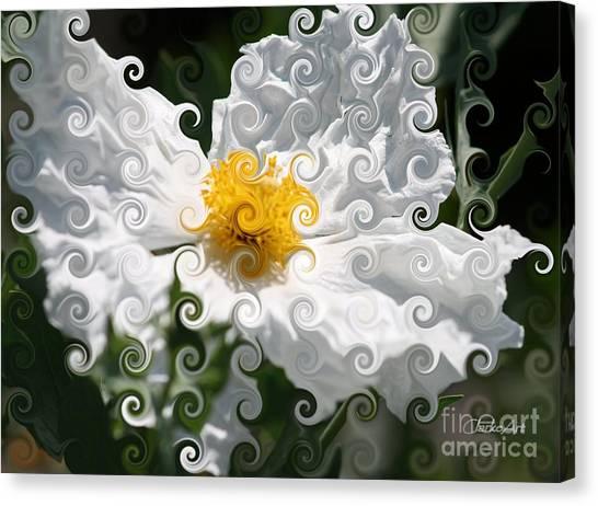 Curlicue Fantasy Bloom Canvas Print