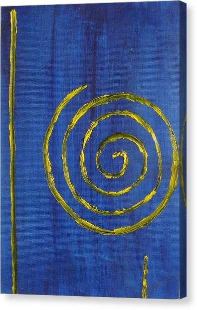 Curlicue Yellow Canvas Print by Roger Cummiskey