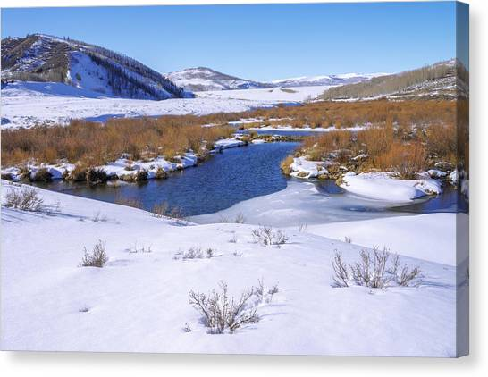 Uinta Canvas Print - Currant Creek On Ice by Chad Dutson