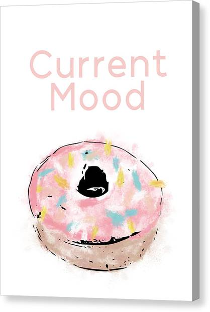 Doughnuts Canvas Print - Current Mood Donut- Art By Linda Woods by Linda Woods