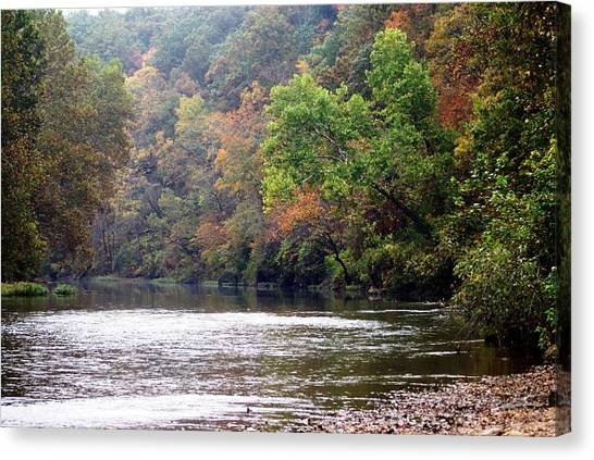 Current River Fall Canvas Print