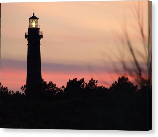 Currituck Beach Lighthouse At Sunset Canvas Print