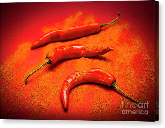 Condiments Canvas Print - Curry Shop Art by Jorgo Photography - Wall Art Gallery
