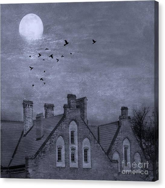Haunted House Canvas Print - Curse Of Manor House by Juli Scalzi