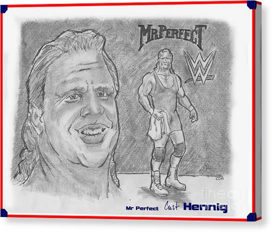 Curt Hennig- Mr Perfect Canvas Print by Chris  DelVecchio