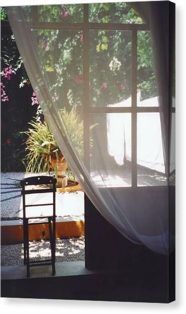 Curtain Canvas Print by Andrea Simon