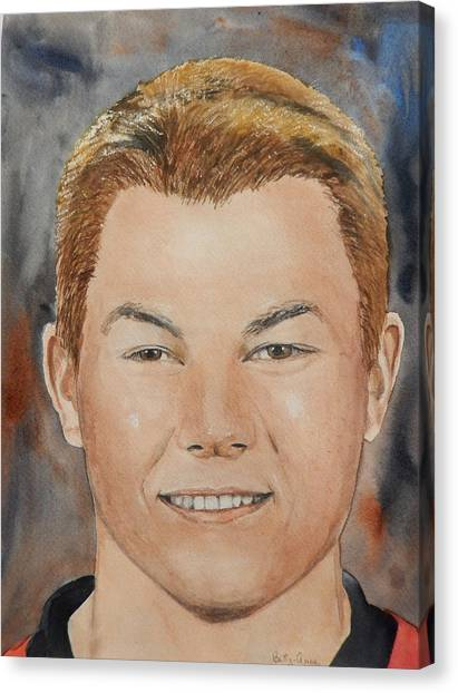 Ottawa Senators Canvas Print - Curtis Lazar by Betty-Anne McDonald