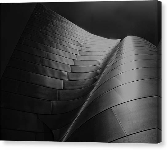 Curves Frank Gehry Aia Canvas Print