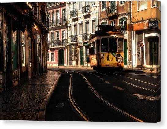 Light Rail Canvas Print - Curves by Jorge Maia