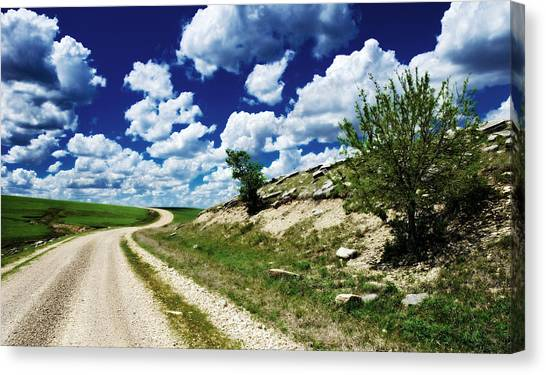 Curving Gravel Road Canvas Print