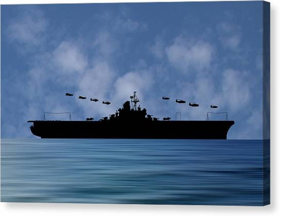 Aircraft Carrier Canvas Print - Cus Abraham Lincoln 1941 V1 by Smart Aviation