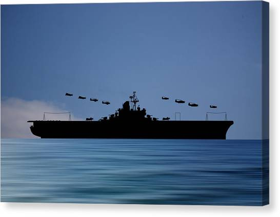 Aircraft Carrier Canvas Print - Cus Abraham Lincoln 1941 V4 by Smart Aviation