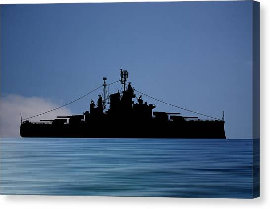 Battleship Canvas Print - Cus Alberta 1937 V4 by Smart Aviation