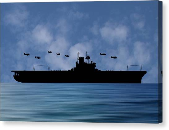 Aircraft Carrier Canvas Print - Cus Andrew Jackson 1936 V1 by Smart Aviation