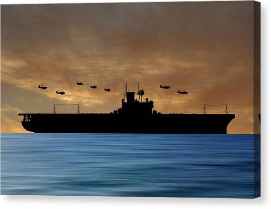 Aircraft Carrier Canvas Print - Cus Andrew Jackson 1936 V2 by Smart Aviation