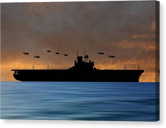 Aircraft Carrier Canvas Print - Cus Andrew Jackson 1936 V3 by Smart Aviation