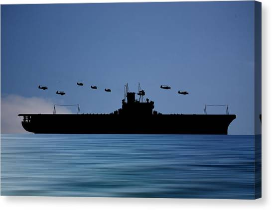 Aircraft Carrier Canvas Print - Cus Andrew Jackson 1936 V4 by Smart Aviation