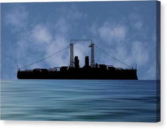Battleship Canvas Print - Cus Delaware 1911 V1 by Smart Aviation