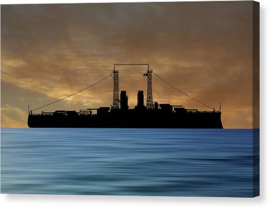 Battleship Canvas Print - Cus Delaware 1911 V2 by Smart Aviation