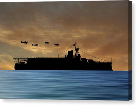 Battleship Canvas Print - Cus Delaware 1929 V2 by Smart Aviation